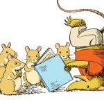 possums reading a book